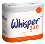 Whisper 320 Sheet 2 Ply White Toilet Roll x 36 - IN STOCK